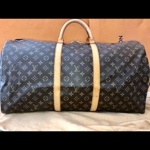 Authentic Louis Vuitton Keepal 60 Bandouliere Bag